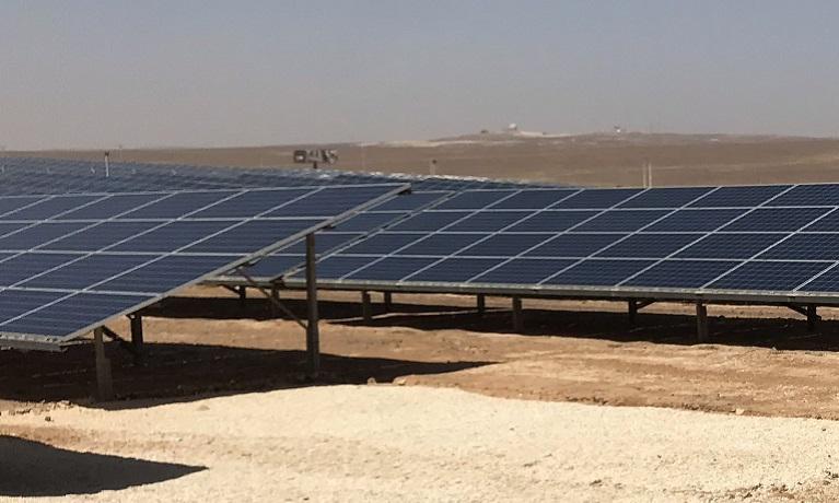 Solar panels in Middle East