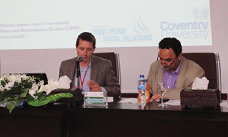 Conference at the Arab American University in Jenin (AAUJ), Palestine