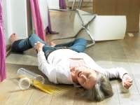 Woman on floor after a fall