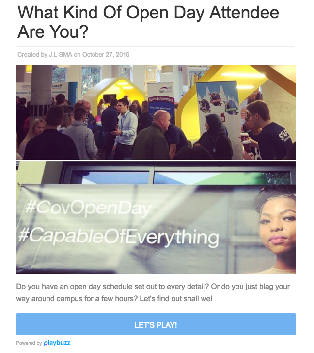 What kind of open day are you? | Coventry University