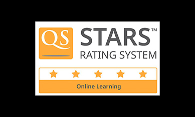 5 QS star award for Online Learning