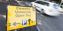 Book an Open Day - signpost image