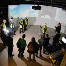 group of people training in the simulation centre