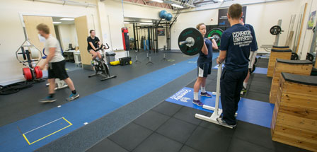 Strength and conditioning suite - signpost image