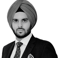 Aman Bir Singh black and white portrait