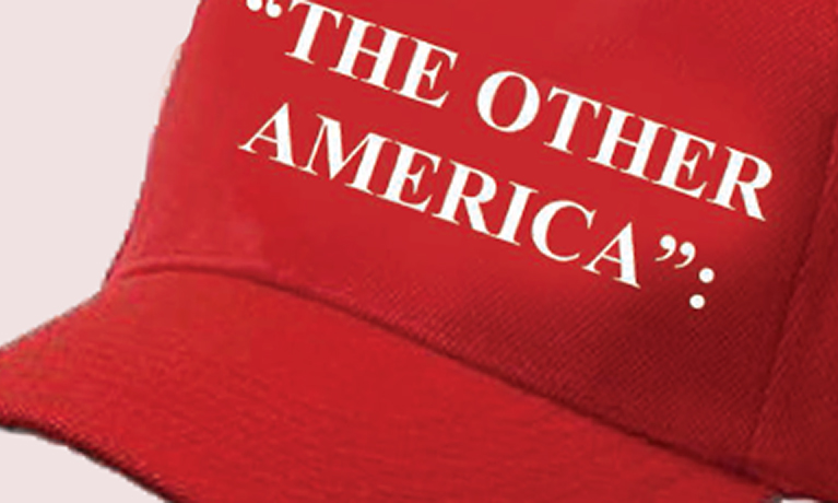 "Red hat with the words ""the other America"""