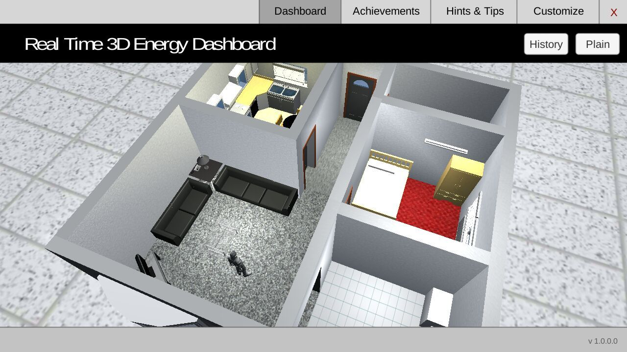smarter households 3d dashboard application