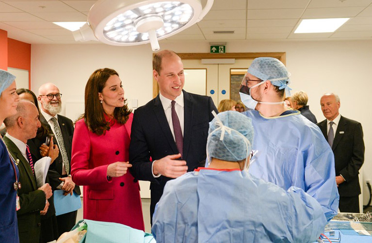Duke and Duchess of Cambridge at Science and Health Building