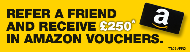 Refer a friend and receive £250 in Amazon vouchers