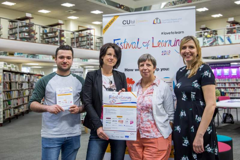 CU Coventry and Coventry Library staff prepare for this month's Festival of Learning