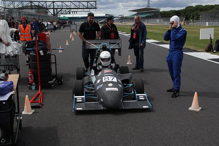 The Phoenix Racing car on the track at Silverstone last year.