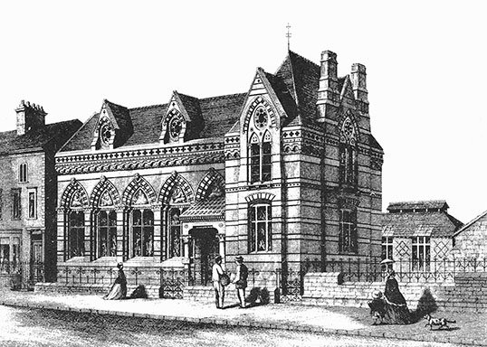 Coventry School of Art, in Ford Street, in 1863.