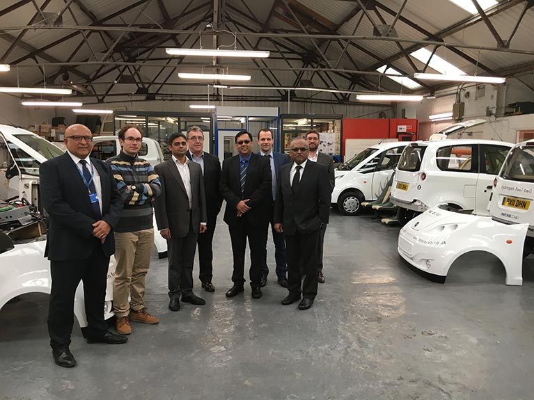 The IET delegation visit Microcab's offices