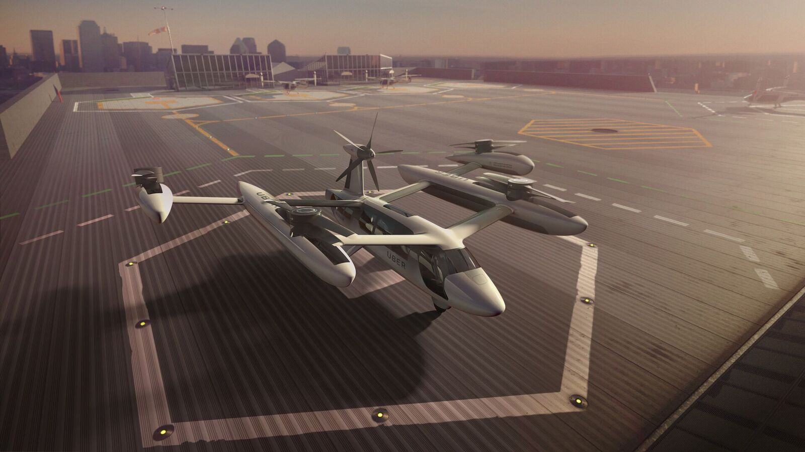 A potential design of a flying taxi from Uber
