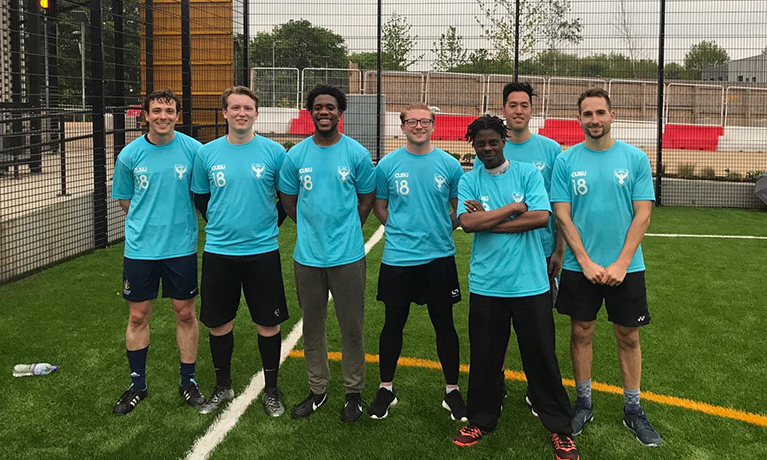 Staff take on students in first ever CUL football match!