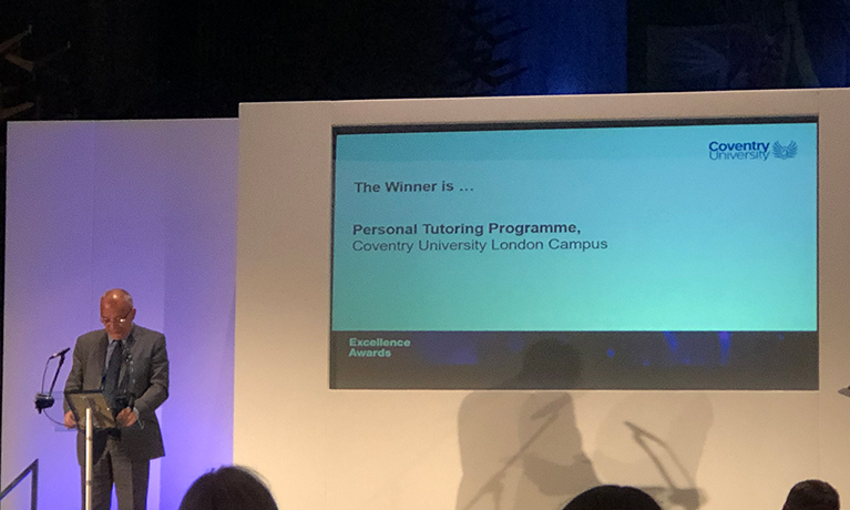 Personal Tutoring Programme takes home top award at Coventry Excellence Awards 2019