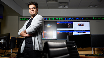 Student in the Trading Floor