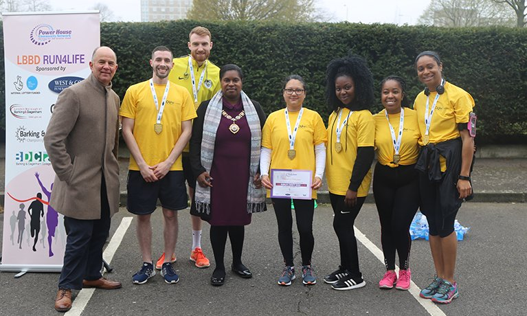 CU London staff raise money for charity in Run4Life