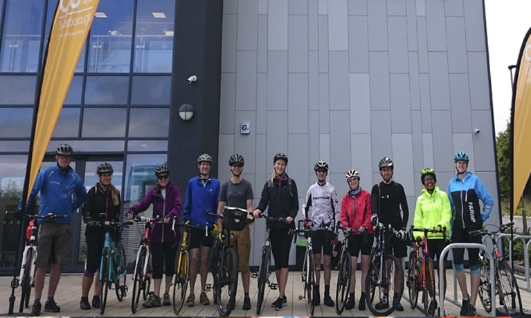 CU Scarborough links with Coventry University via Cycle Challenge