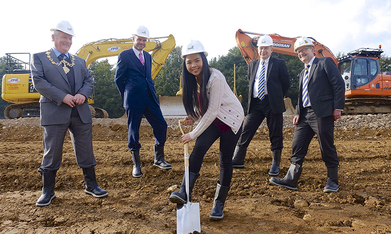 Ground is broken in preparation for £14m purpose-built campus