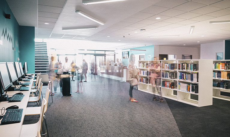 The CU Scarborough campus foyer