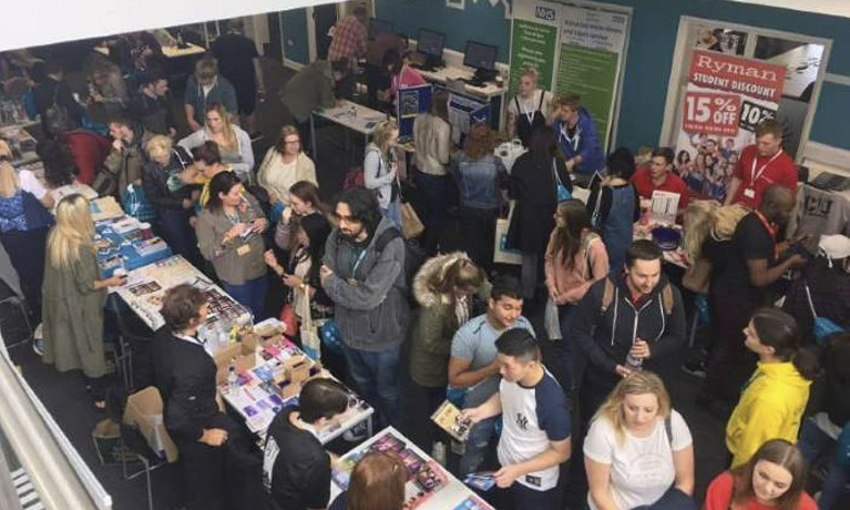 Students at Freshers' event