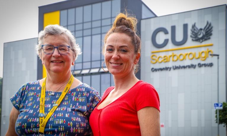 Janet Wilson and Jade Cappleman at CU Scarborough