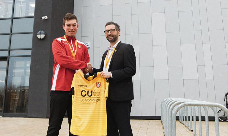 CU Scarborough welcome SAFC onto campus