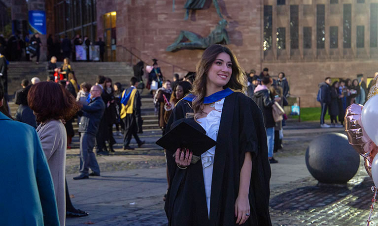 CU Coventry students celebrate at graduation ceremony