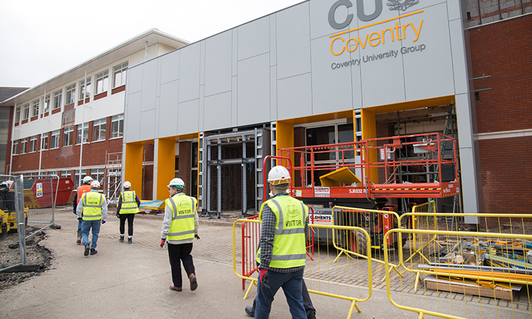 Building work gets underway on new CU Coventry campus