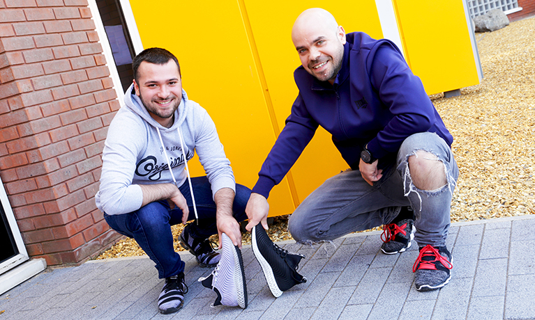 Enterprising CU Coventry students create hi-tech trainer brand