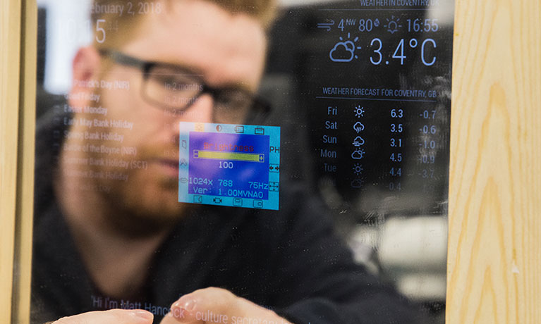 CU Coventry students build innovative smart mirror