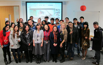 Students at Coventry University London Campus celebrate Chinese New Year