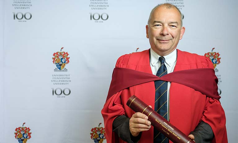 Coventry University's VC honoured by Stellenbosch University for his leadership skills