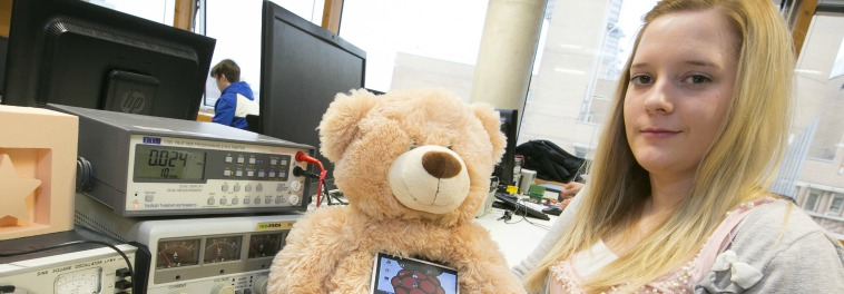 High-tech hoody and a teddy bear for the sensory impaired on show at engineering event