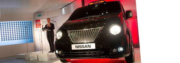 Nissan boss announces London taxi production news at University lecture