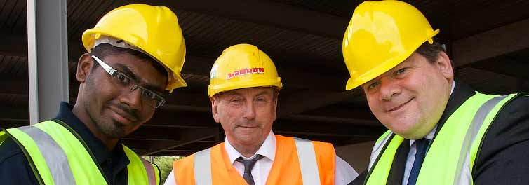Topping out takes place at the UK's first 'Faculty on the Factory Floor'