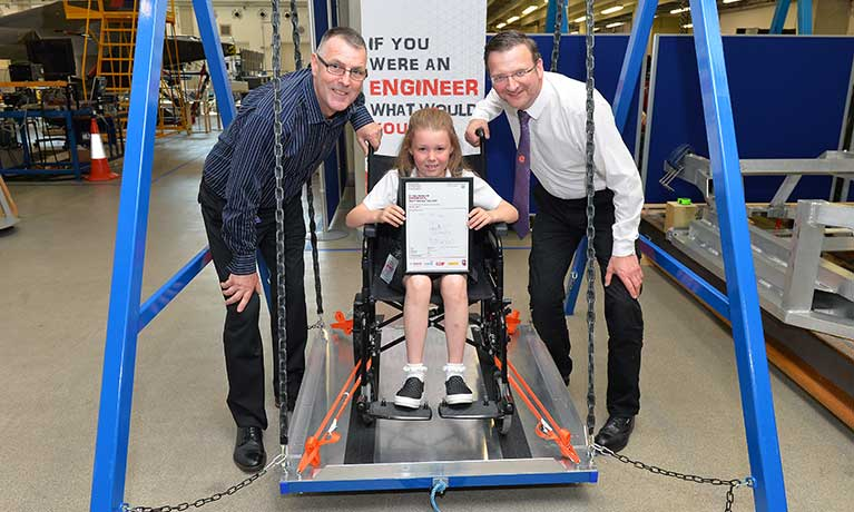 Coventry University engineers bring child's design to life