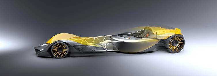 Coventry student designs futuristic land speed 'ride'