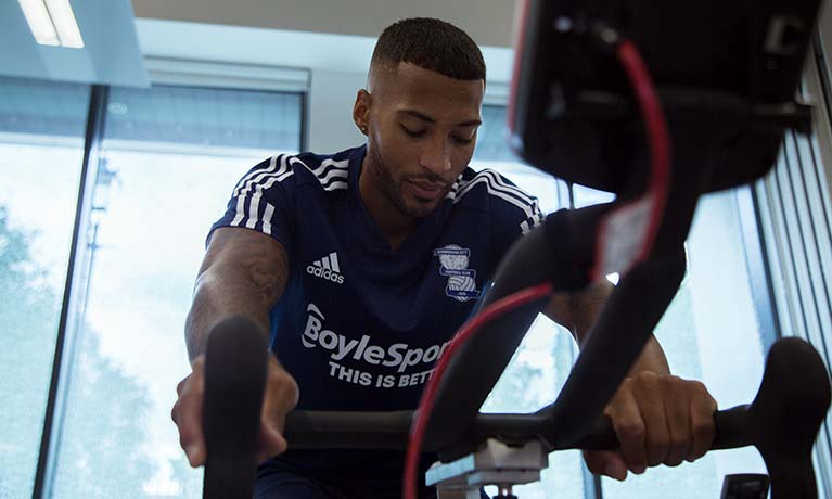 BCFC player on bike