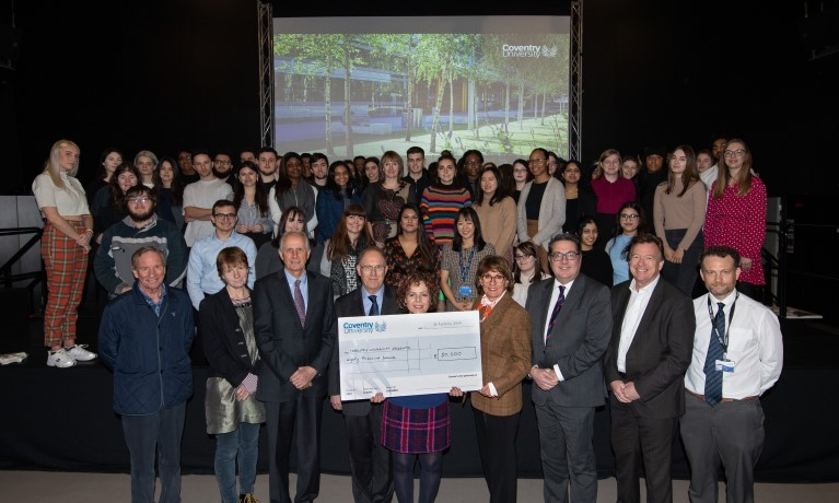 Coventry University presents nearly 80 students with scholarships