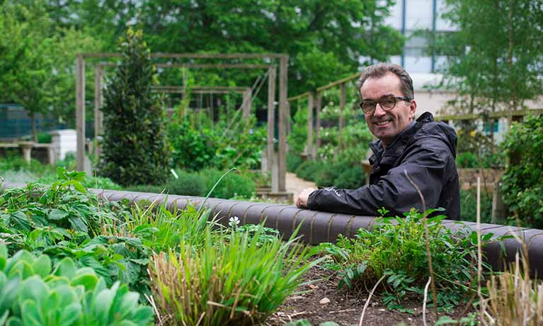 Phil in the garden
