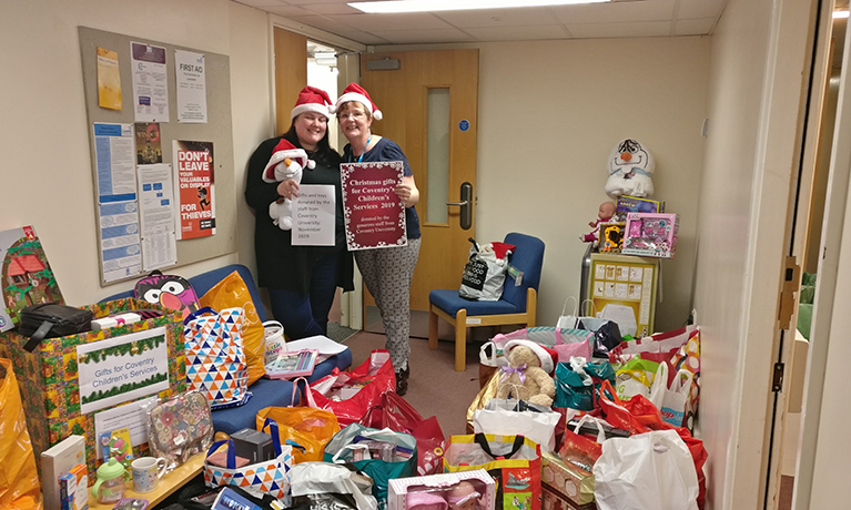 Christmas gift donations from staff to be received by looked after children in Coventry