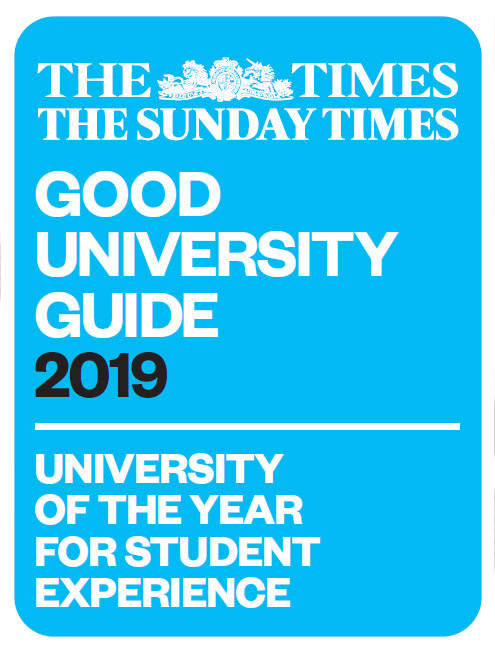 University of the Year for Student Experience - The Times and Sunday Times Good University Guide 2019