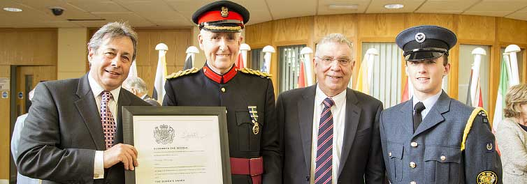 Coventry University receives Queen's Award from Vice Lord-Lieutenant